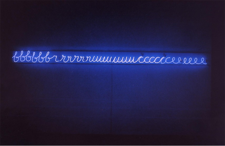 Bruce Nauman video wayne neon american support