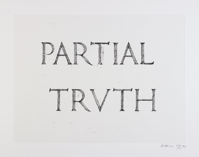 Bruce Nauman-Partial Truth-1997