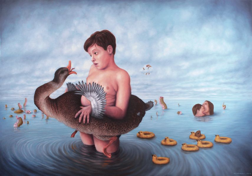 the artist posts surreal images lives and creatures in his blog profile, as well as surrealism illustration