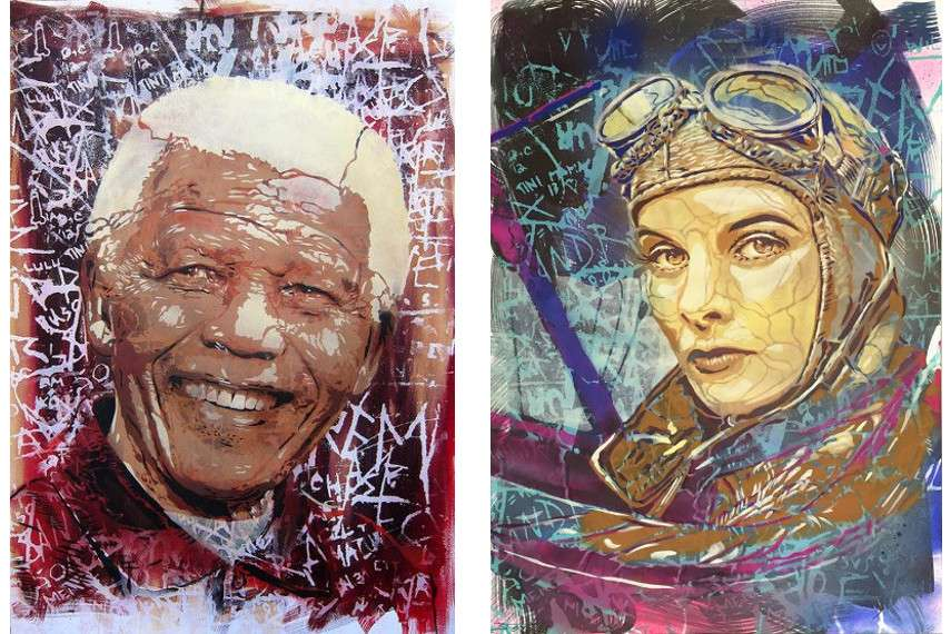 Btoy - Nelson Mandela (left) --- City in progress (right) - English más foto on Flickr are the cookies of ‪#‎ 2016 and # 2015 videos