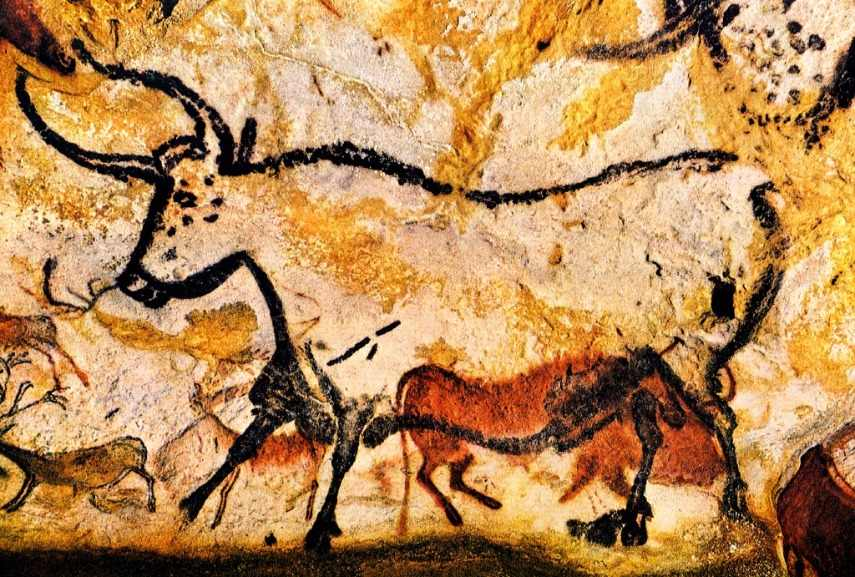 Animal paintings first appeared as cave art