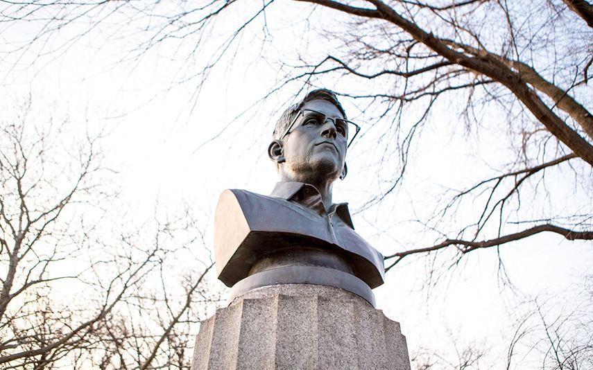 Bust of Edward Snowden
