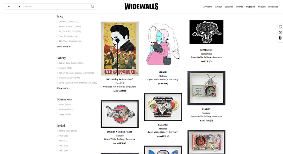 Widewalls marketplace the best place to buy art online for Best place to buy posters in store