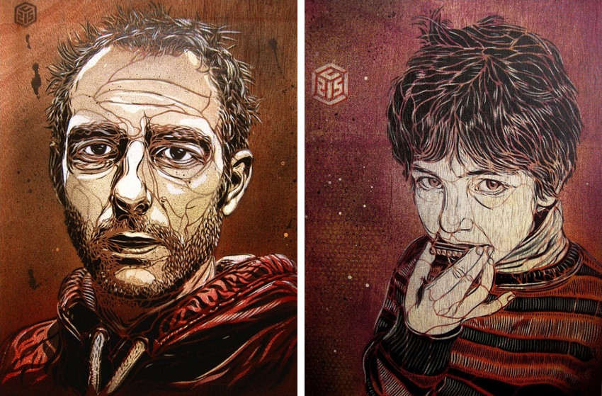 C215 - Portrait of Jonathan Hill - Portrait of Seny Meftah