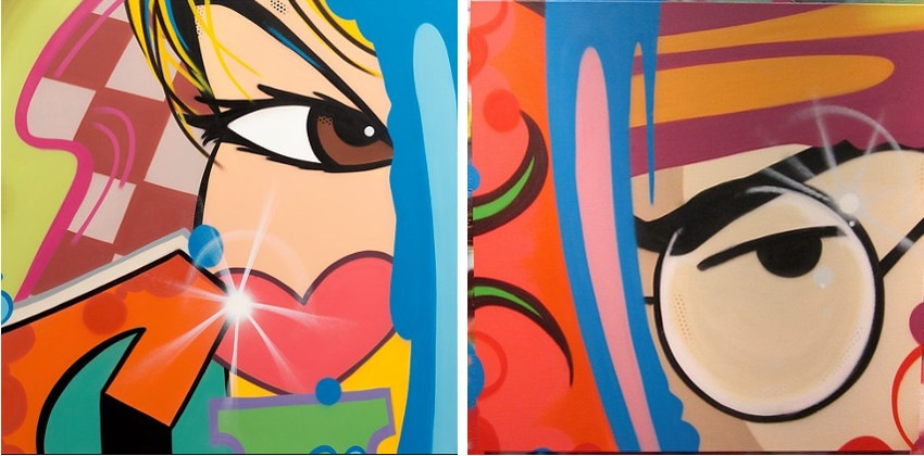 CRASH - Wrapped in My Own Existence, 2013 (Left) / Clark Kent 1, 2012 (Right)