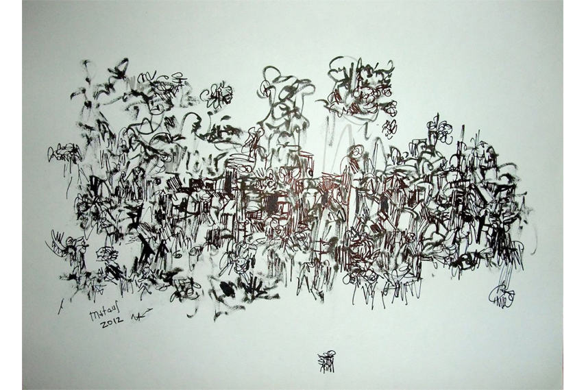 Cafe Art - Art by Mateus El Samaria from One Support - via cafeart org uk