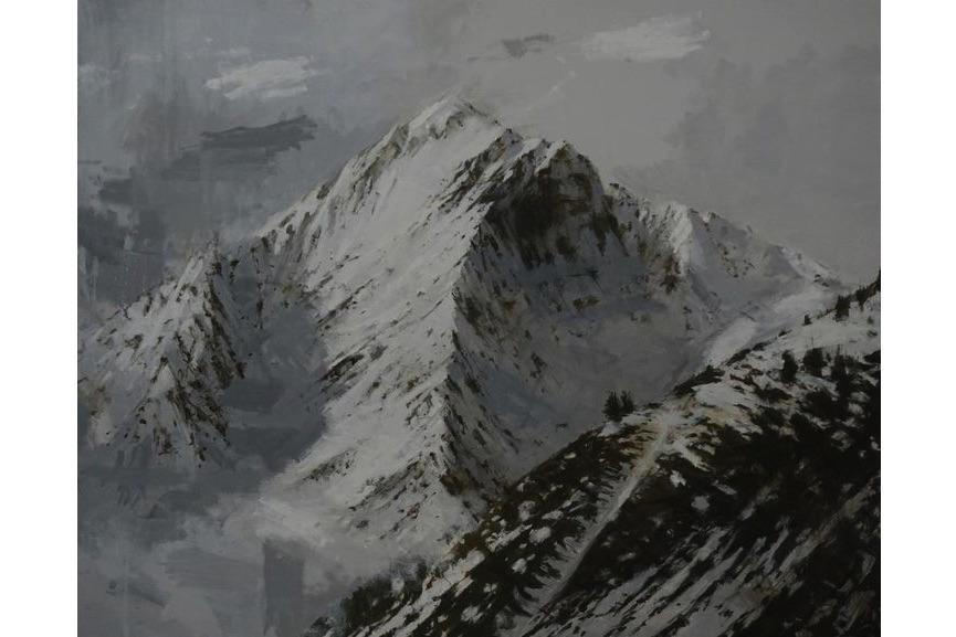 Calo Carratala - Large Benasque 2, Snow series, 2017