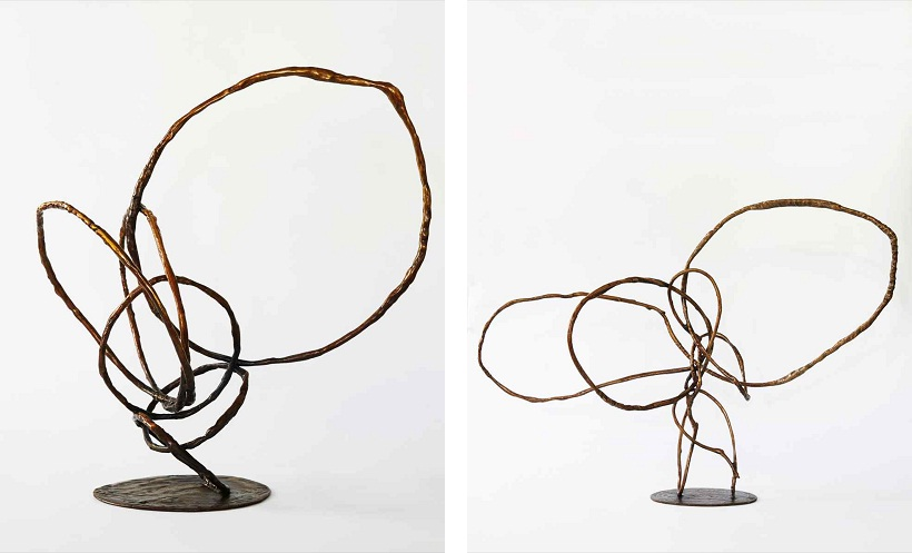 Camie Lyons - Balancing Act (left), The Sinous Line (right) 2014