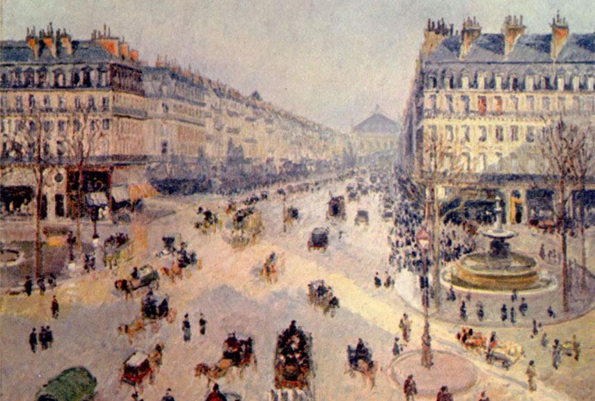 Camille Pissarro's painting represents renovation of the city of Paris