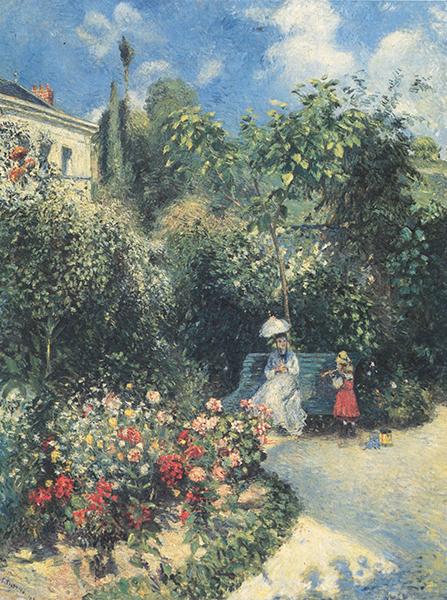 Camille Pissarro - La Jardin à Pontoise, 1877