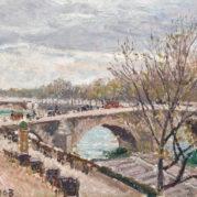 Camille Pissarro - Le Pont-Royal, Apres-Midi, Temps Couvert, 1903 (detail)