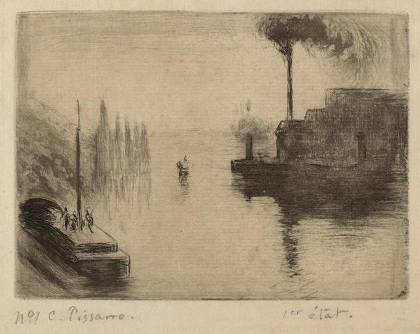 Camille Pissarro-L'ile Lacroix a Rouen-1887