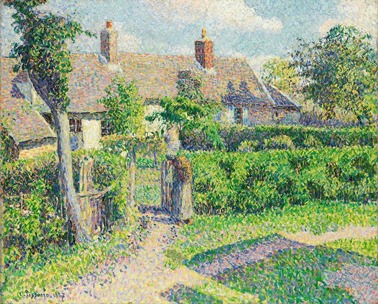 Camille Pissarro - Peasants' houses, Eragny, 1887