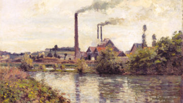 Camille Pissarro - The Factory at Pontoise, 1873