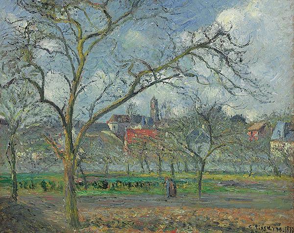 Camille Pissarro - Verger A Saint-Ouen-Laumone En Hiver