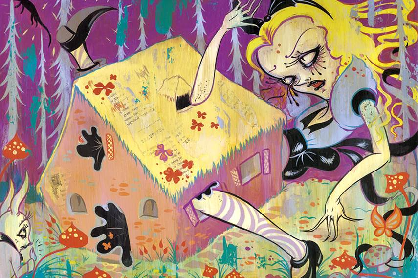 Camille Rose Garcia - Down the Rabbit Hole, 2010