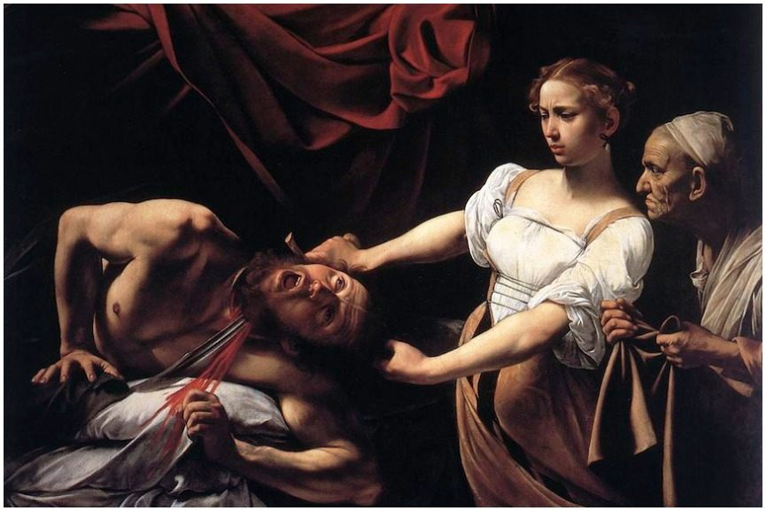 Caravaggio's dark black painting works