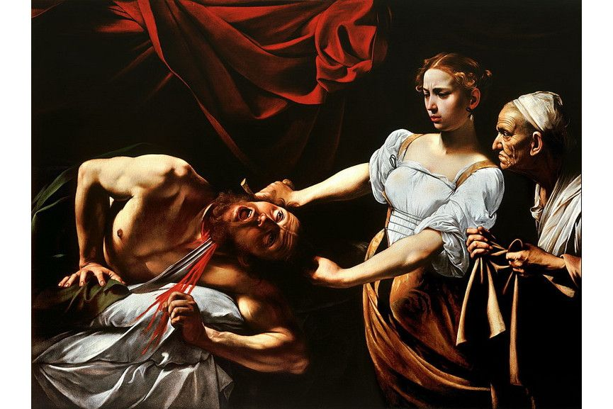 Famous Caravaggio paintings in his work life - Judith Beheading Holofernes