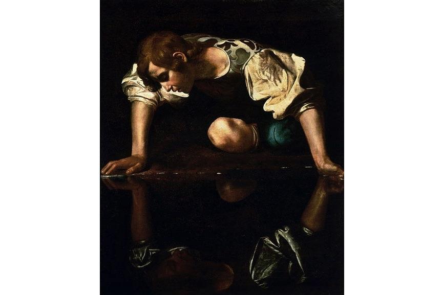 Caravaggio - Narcissus, 1597–1599