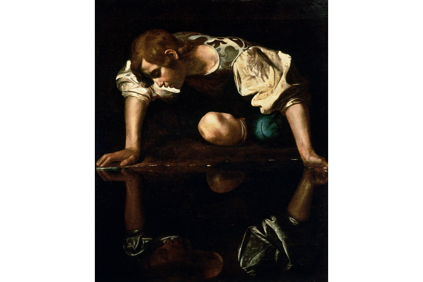 Famous Caravaggio paintings - Narcissus