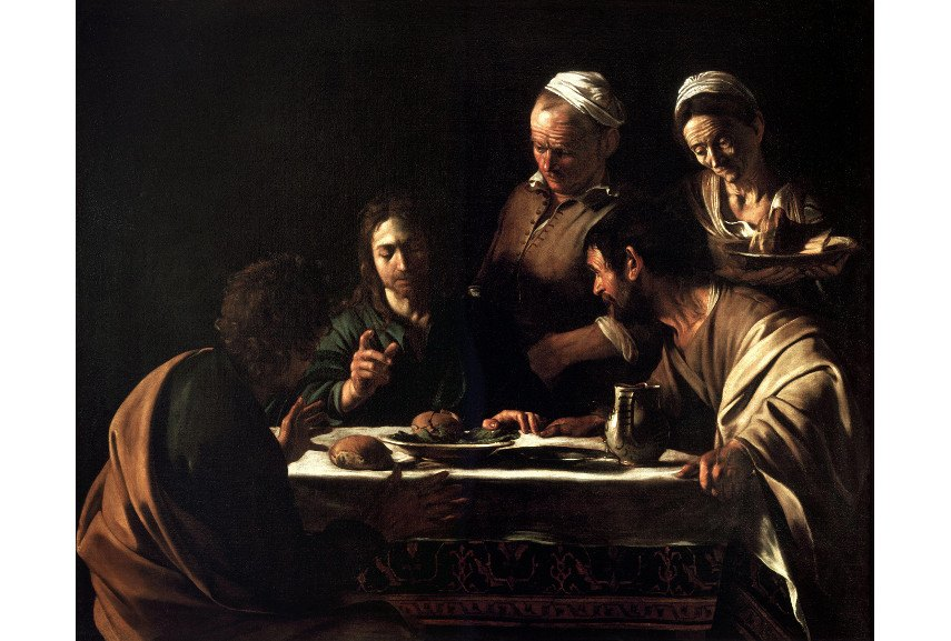 Caravaggio - Supper at Emmaus (1606) - Image via arthistoryprojectcom