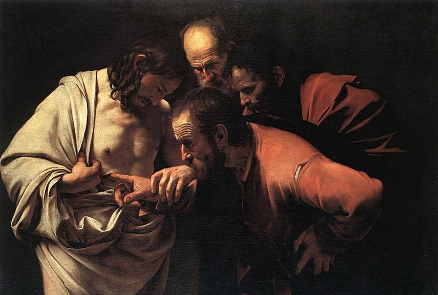 Caravaggio - The Incredulity of Saint Thomas paintings john - Image via webartacademycom