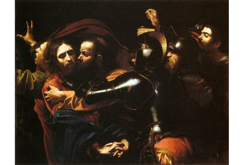 Caravaggio - The Taking of Christ, 1602 - Image via wikipediaorg
