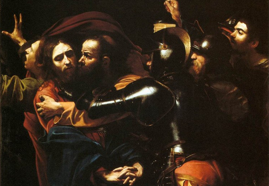 Caravaggio - The Taking of Christ - Image via work head org