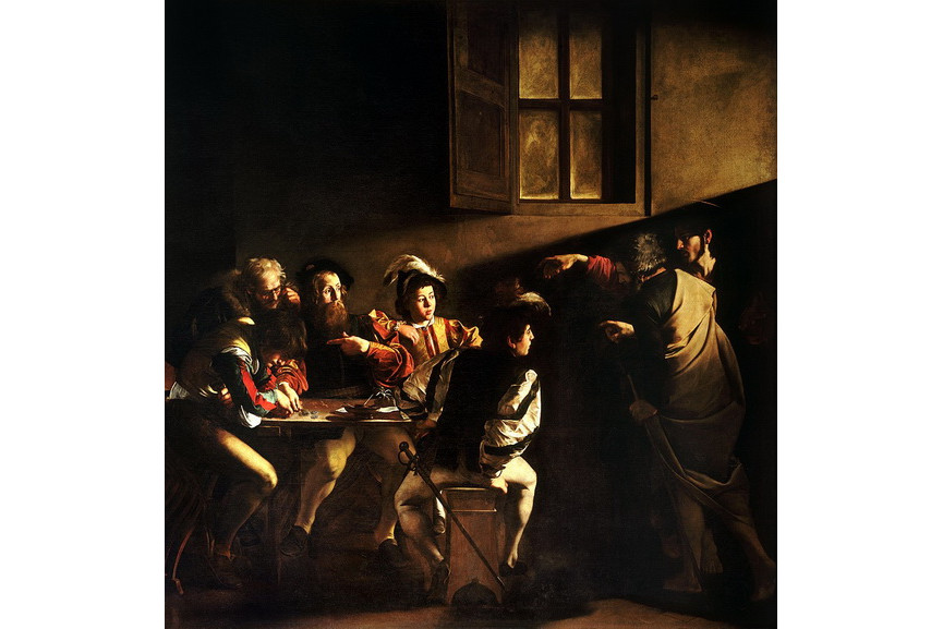Most famous Caravaggo paintings - The Calling of Saint Matthew
