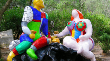 Card VI - The choice (the lovers) at the Tarot Garden by Niki de Saint Phalle, Tuscany