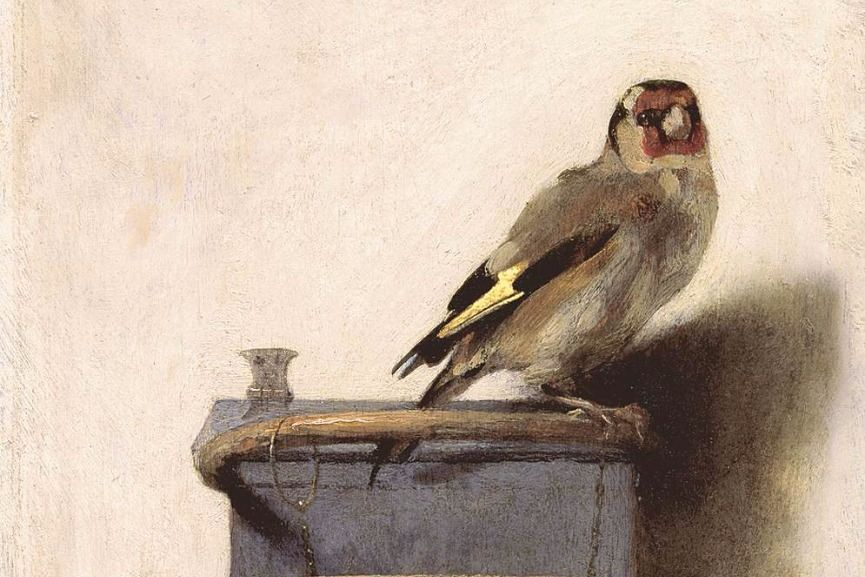 Carel Fabritius – The Goldfinch, 1654, detail via wga.hu