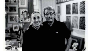 Carla Sozzani and Helmut Newton in her Studio, Milano, 1999
