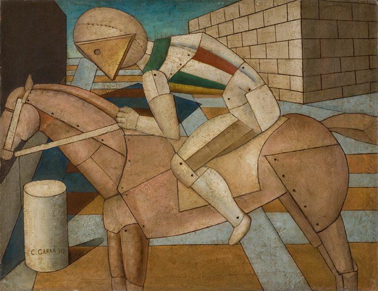 Carlo Carra - Il cavaliere occidentale