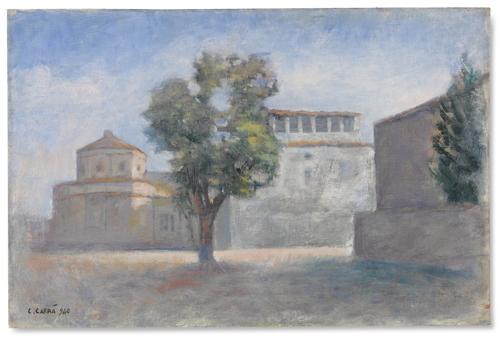 Carlo Carra-La Chiesa Del Brunelleschi-1940