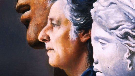 Carlo Maria Mariani - Selfportrait, 2004 (detail) Image via ArtSpecialDay