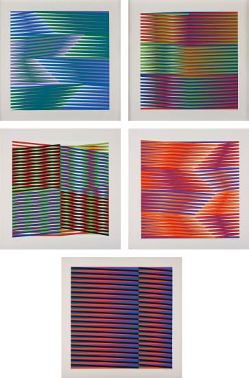 Carlos Cruz-Diez-Couleur Additive: four plates; and Untitled-1975