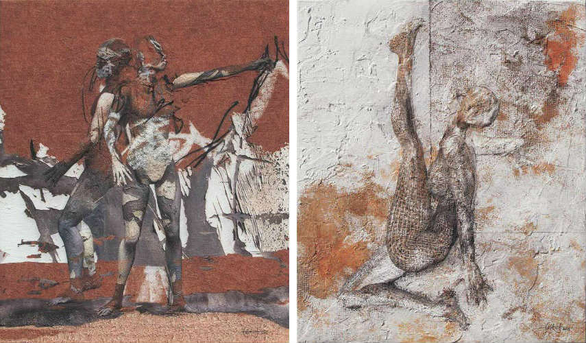 Carlos Orive - Sketches (Left) - Extraordinary Figure (Right)