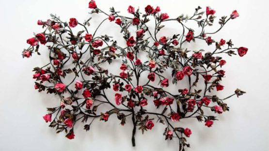 Carlton Scott Sturgill - Branded Rose Gowanus (Red), 2014 (detail)