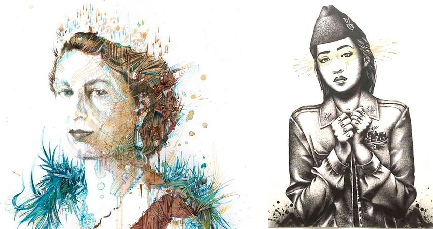 Carne Griffiths - Afternoon tea with the Queen, Fin DAC - Pearlescence