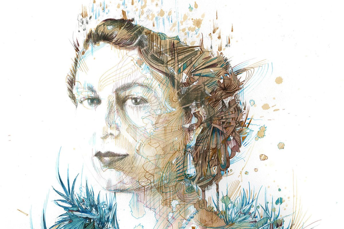 Carne Griffiths - Afternoon tea with the Queen (detail)
