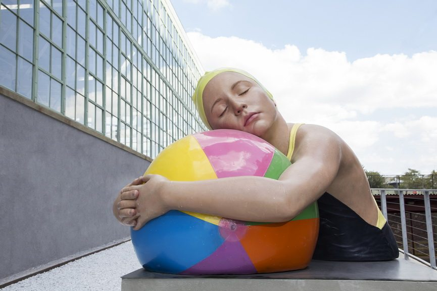 Carole Feuerman - Monumental Brooke with Beach Ball