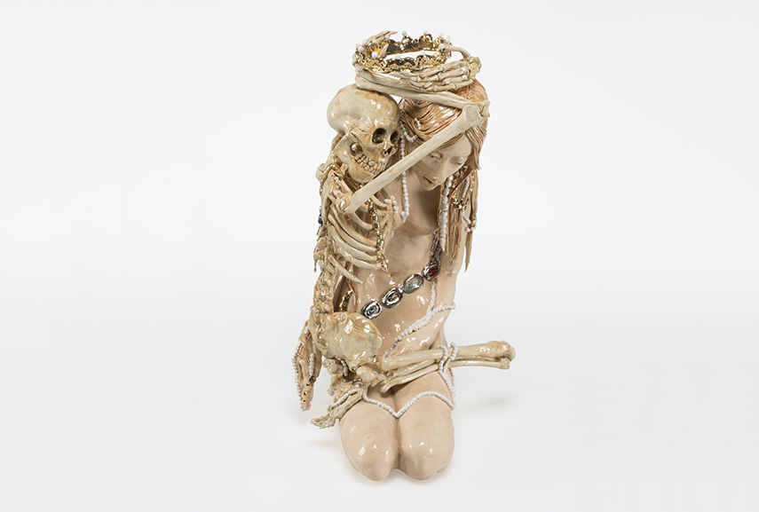 Carolein Smit - Dood en het meisje (Death and the maiden 4), 2014. Ceramics, 60cm in height