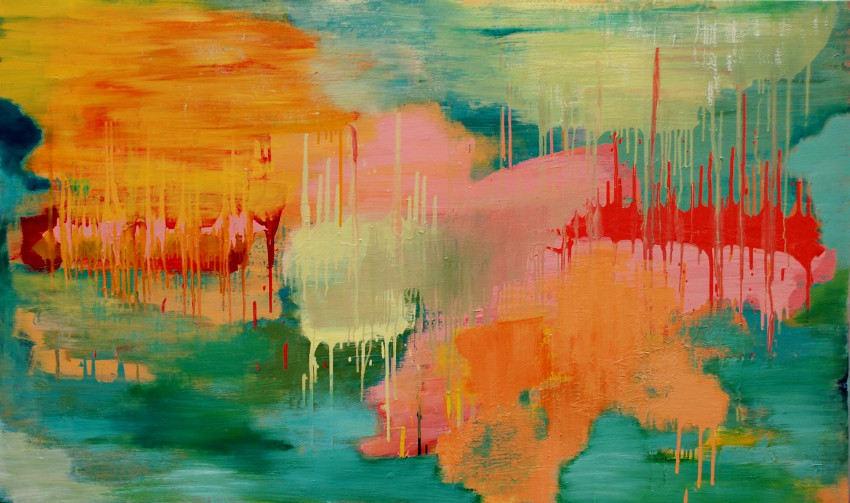 Carolyn O'Neill - River Deep, Mountain High, 2014, new life design abstract work
