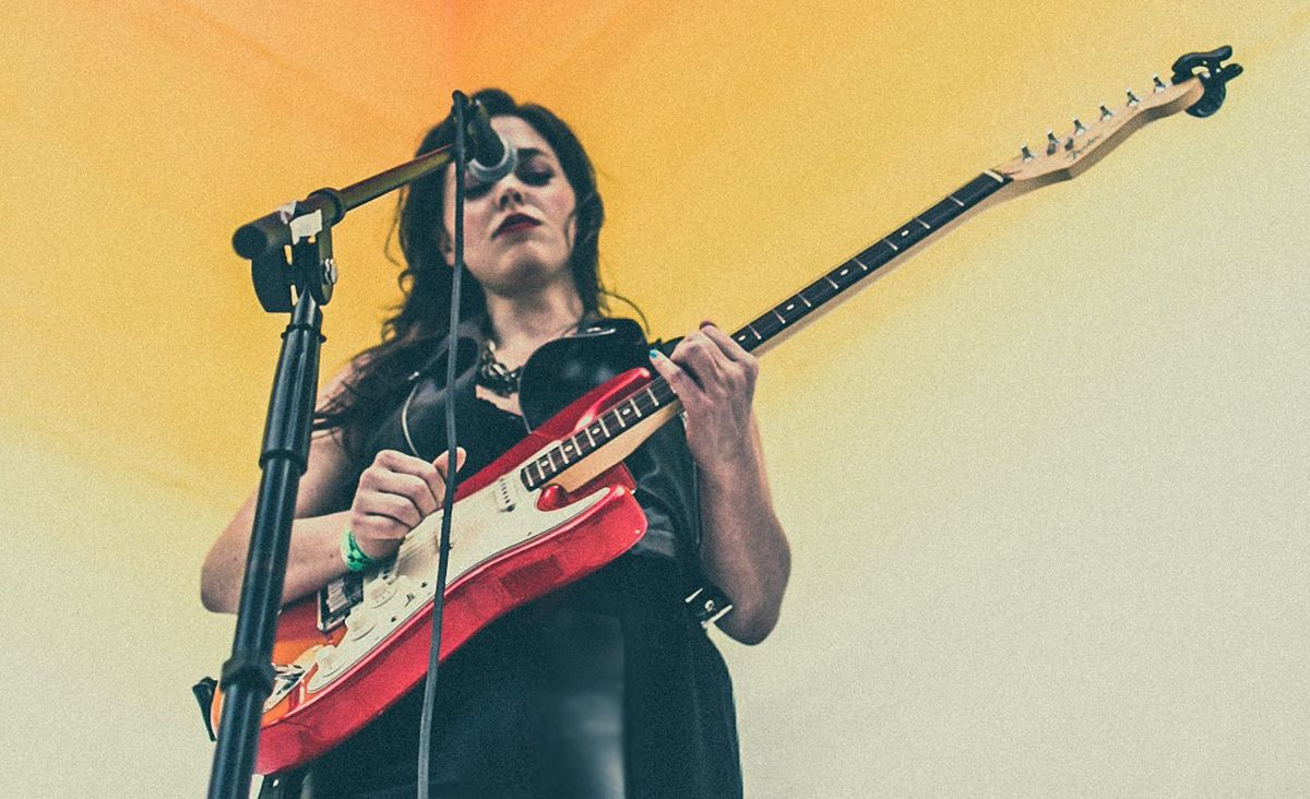 Brooklyn artist Carrie Able performing at SxSW Austin