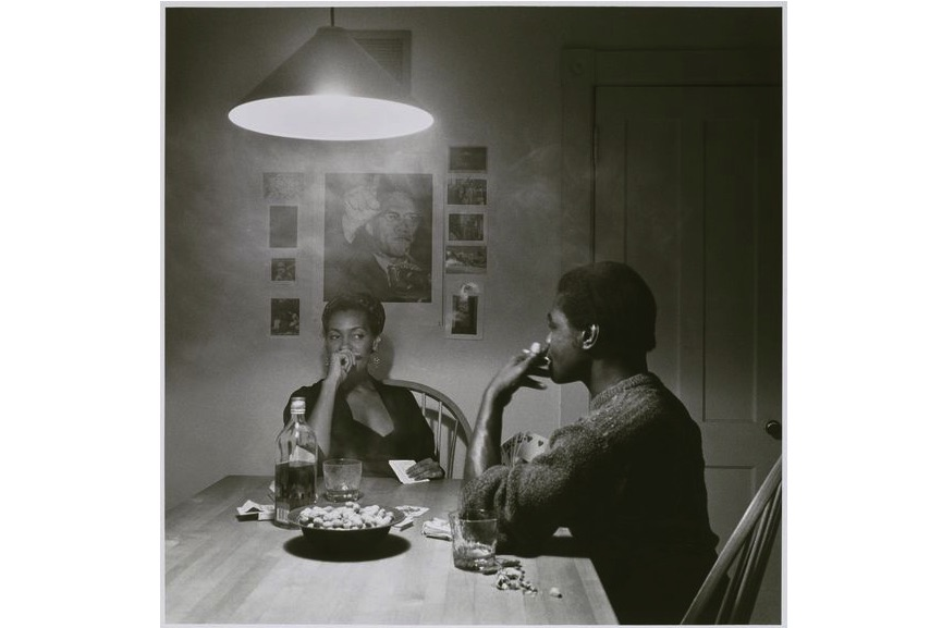 Carrie Mae Weems - Untitled (Man Smoking:Malcolm X), from the Kitchen Table series, 1990