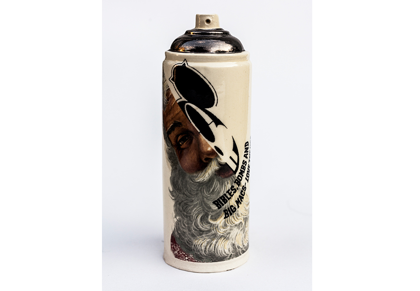 Ceramic spray cans