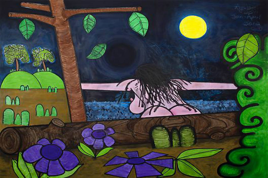 "paintings gallery "" 2009 Carroll Dunham - seventeen (Black hole), 2011-12 2012 2008 inches media untitled 2016"