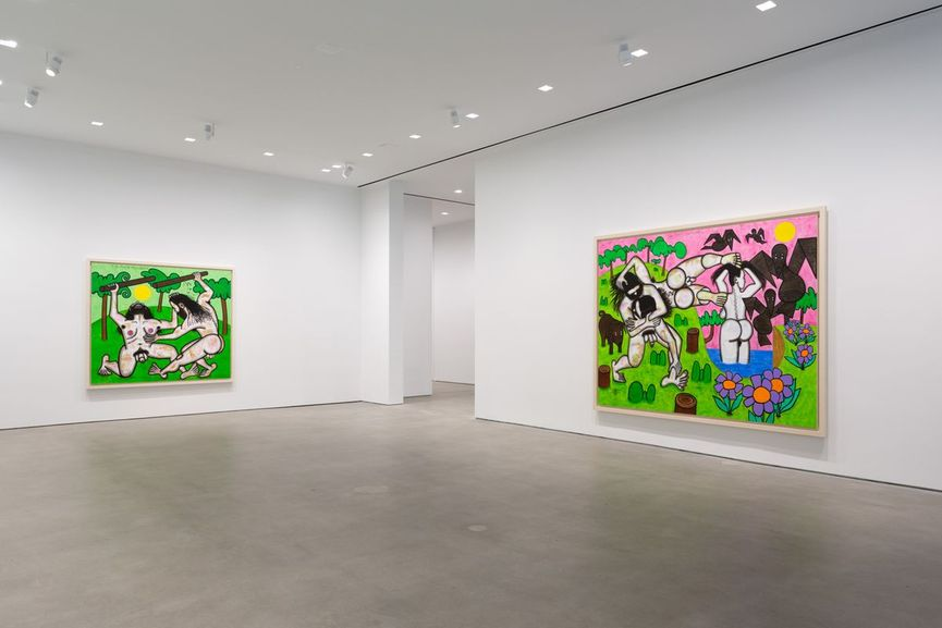 Carroll Dunham at Gladstone Gallery, Installation View