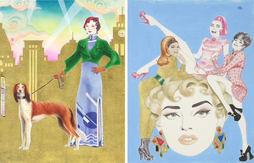 Cary Kwok - Qipao-Shanghai(1930s), Qipao-Shanghai(1990s), 2012, copyrights heralds