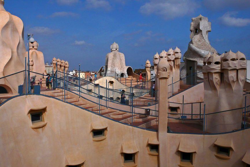 Antoni Gaudi design Casa Mila, Barcelona